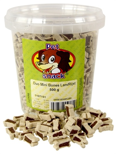 Petsnack Petsnack botjes mini duo lam/rijst