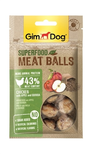 Gimdog Gimdog superfood meat balls kip / appel / quinoa
