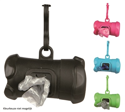 Trixie Trixie poepzakhouder botvorm met poepzakjes assorti