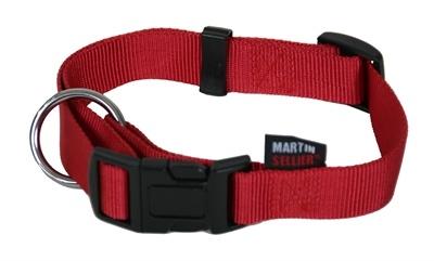 Martin sellier Martin sellier halsband basic nylon rood
