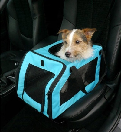 Rosewood Pet autozitje / transport tas aqua blauw