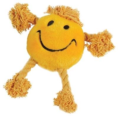 Happy pet Happy pet happy faces pluche smiley geel