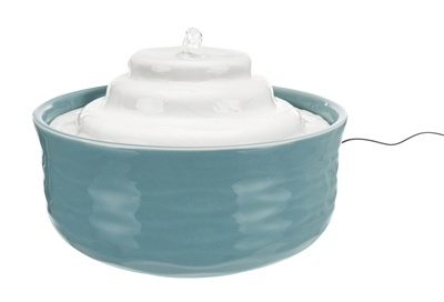 Trixie Trixie drinkfontein vital falls keramisch blauw / wit
