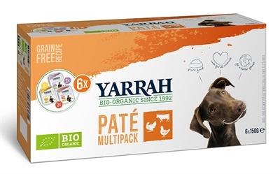 Yarrah Yarrah organic hond multipack pate kalkoen / kip / rund