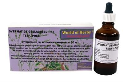 World of herbs World of herbs fytotherapie overmatige geslachtsdrift teef / poes