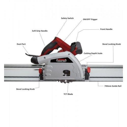 Lumberjack Invalzaag PS165 met 1400 mm geleiderail