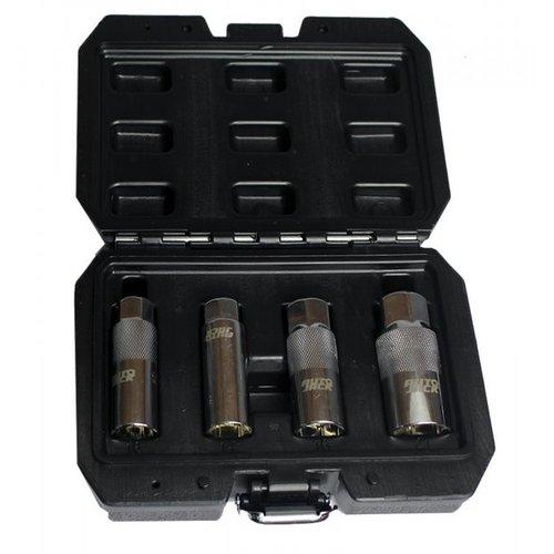 Autojack Autojack 38SPS4 4 Piece 3/8 inch Sq Drive Spark Plug Socket Set