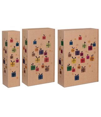 Chrismas Surprise geschenkdoos voor 1,2 of 3 wijnflessen