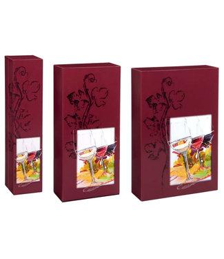 Vinothek wijngeschenkdoos voor 1,2 of 3 wijnflessen