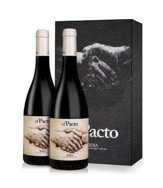 Vintae - Rioja Spanje El Pacto Rioja Crianza Giftpack 2 flessen Bio