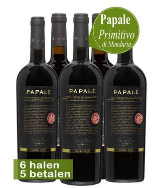 Varvaglione Vigne e Vini - Puglia Italië Varvaglione Papale Linea Oro Primitivo di Manduria (6 halen, 5 betalen)