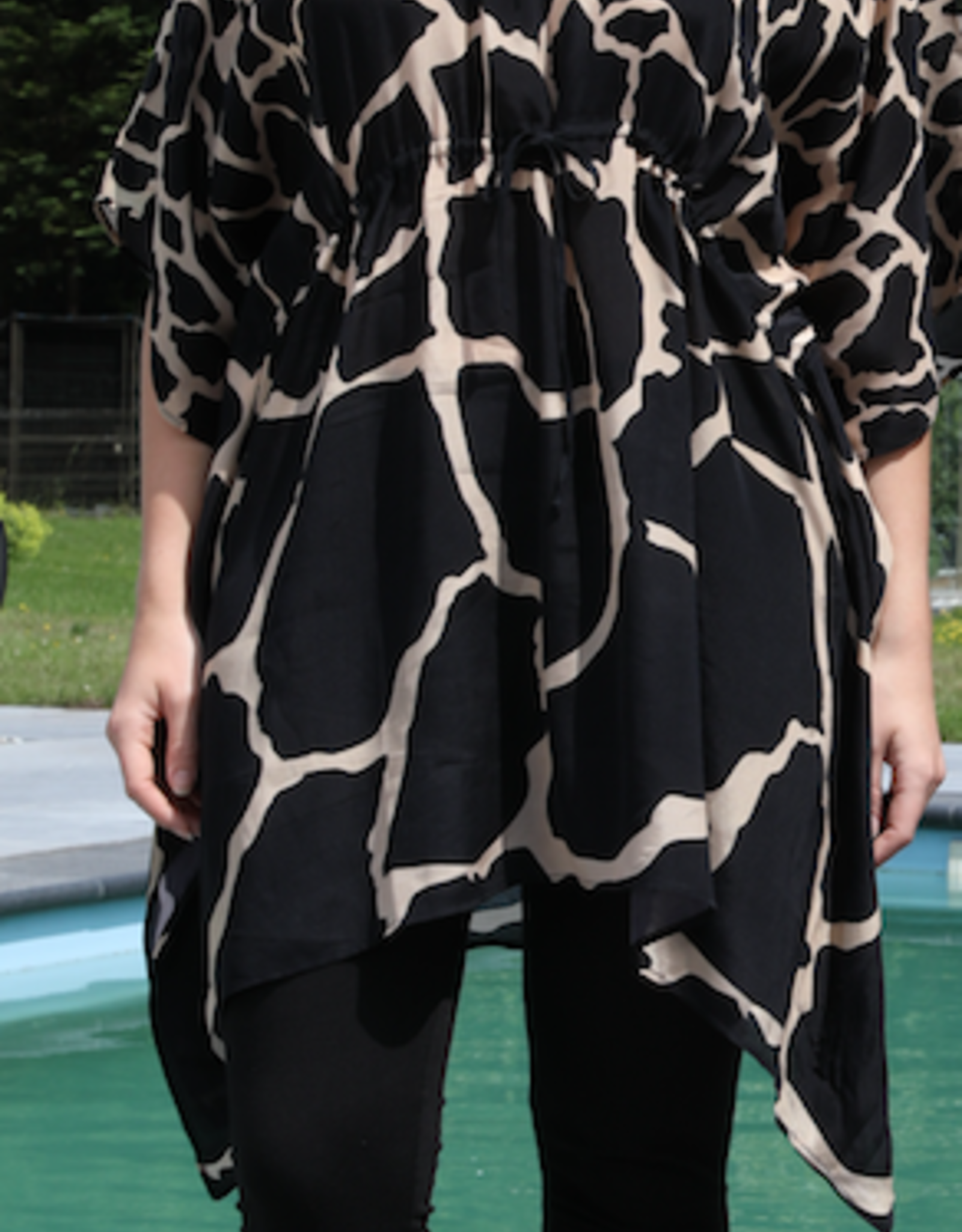 Dresskini Zebra Print Black Beige