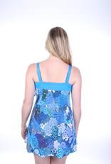 Dresskini Strapless Light Blue Hortensia Flowers