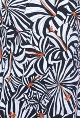 Dresskini Strapless Black White Orange Flowers