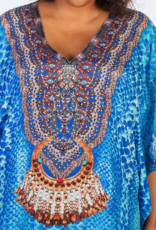 Dresskini Light Blue Brown V-neck