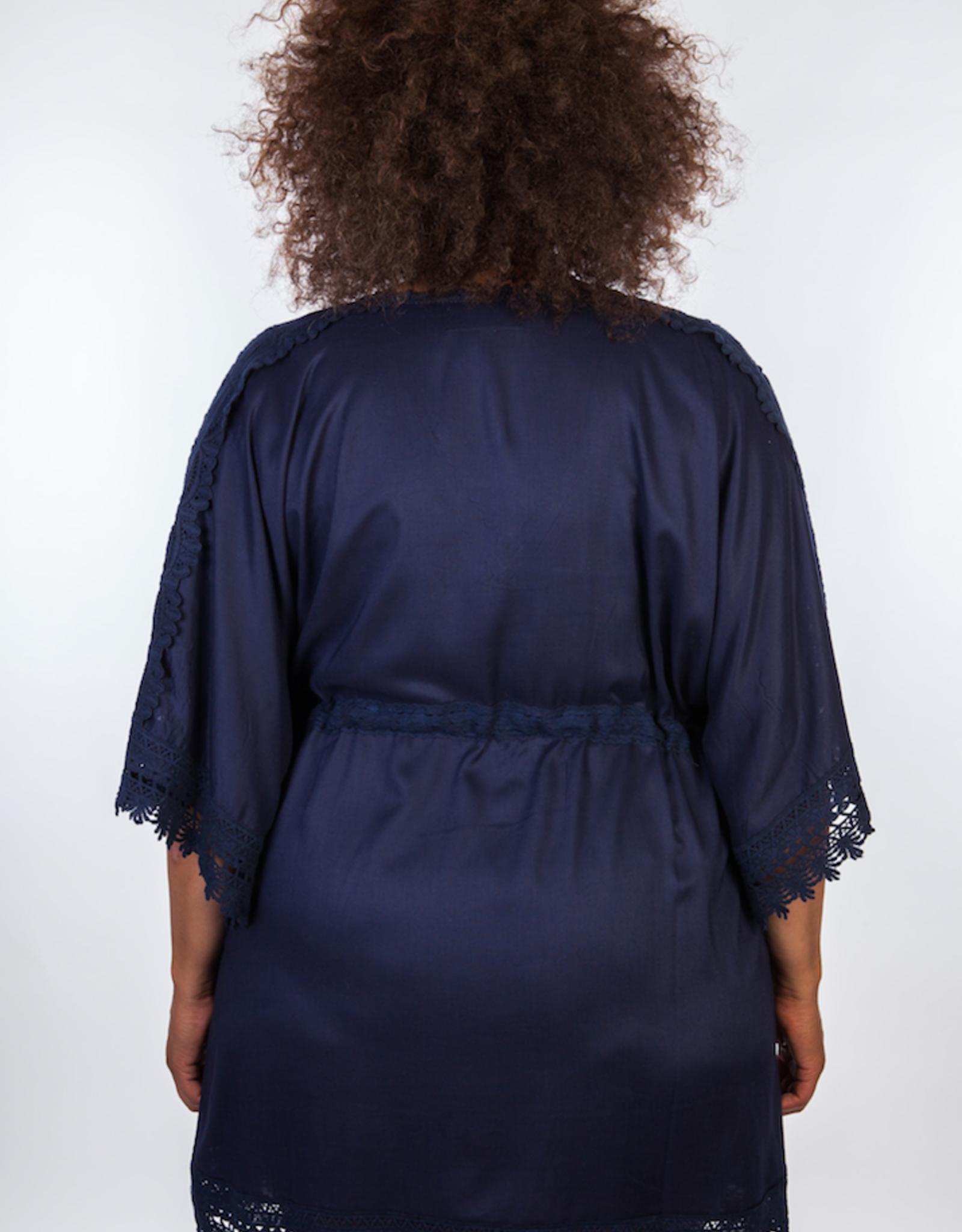 Dresskini Solid Dark Blue Lace