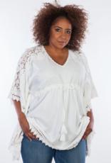Dresskini Solid White Lace