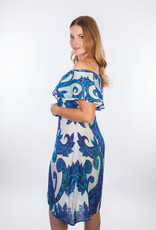 Dresskini French Blue Baroc Print