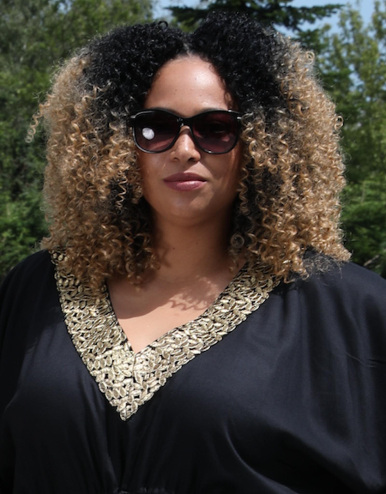 Dresskini With golden v-neck