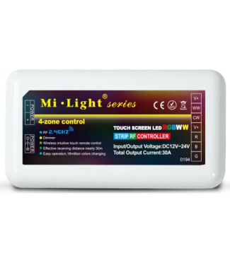 Milight RGB+CCT Led Strip Controller | 4-zone | voor RGB+CCT LED Strips