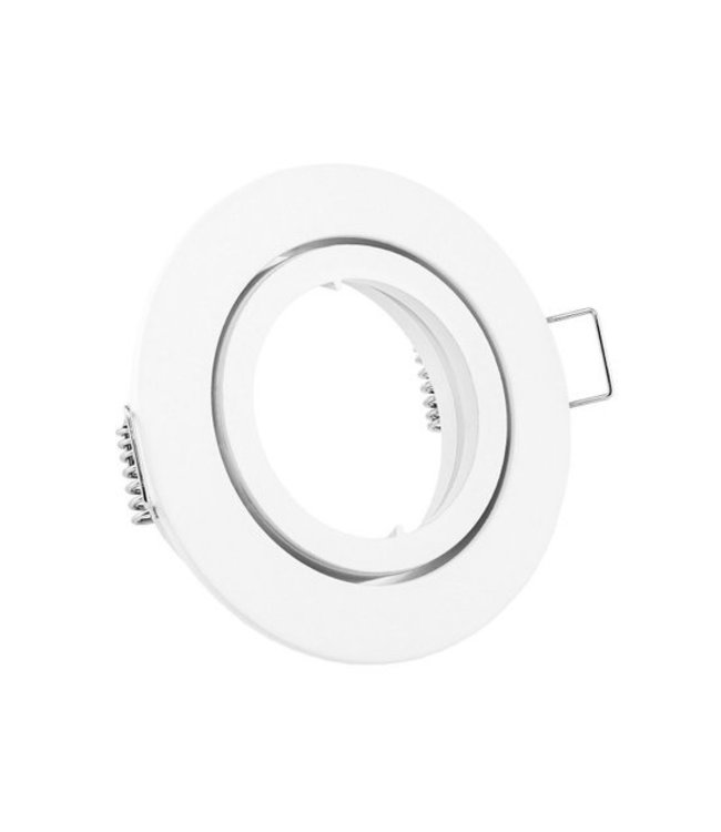 Purpl LED GU10 Armatuur Zink Kantelbaar Wit IP20