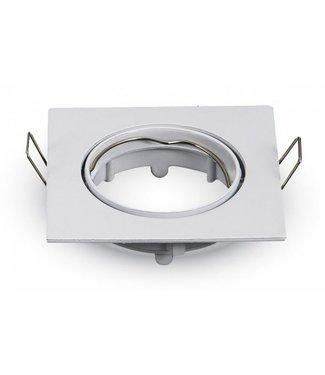 Purpl LED GU10 Armatuur Aluminium Kantelbaar Vierkant Wit IP20