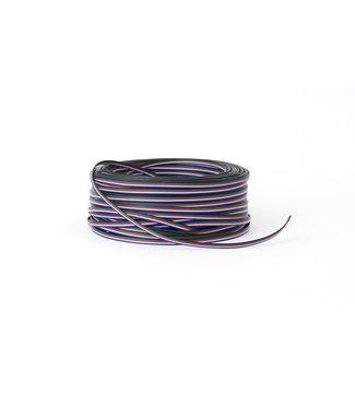 Purpl Verlengkabel 5-aderig | Per 1 of 50m | Voor RGBW LED Strips