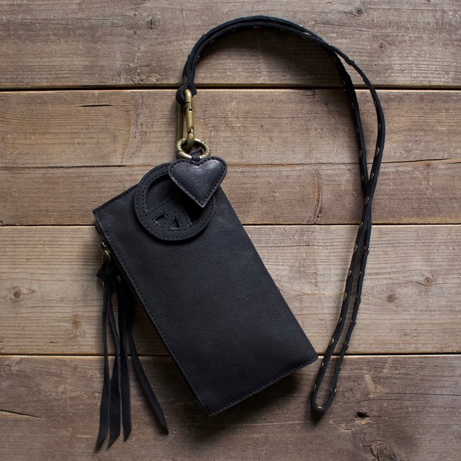 Label 88 Turin wallet, black leather