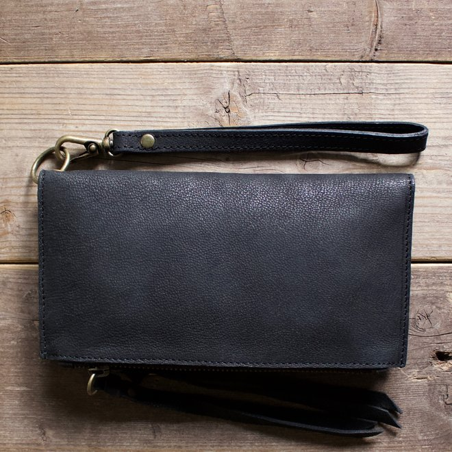 Turin wallet, black leather