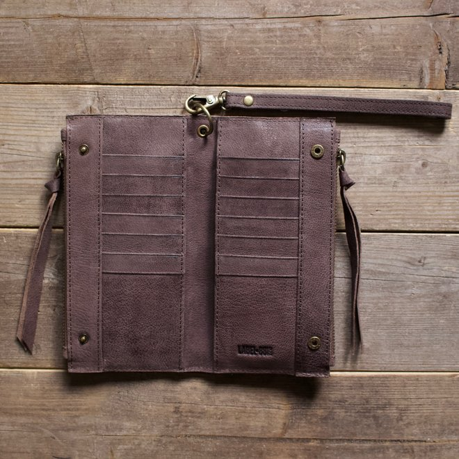Turin portemonnee, bruin leer