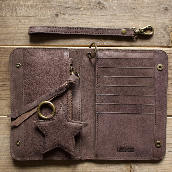 Houston wallet, brown leather