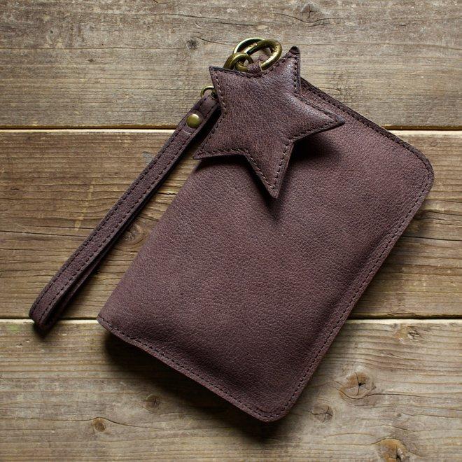 Houston portemonnee, bruin