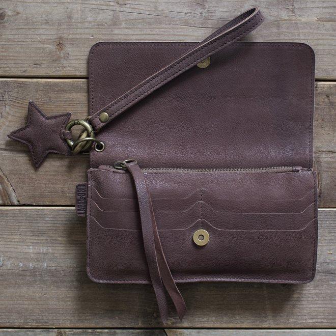 Berlin XL wallet, brown leather