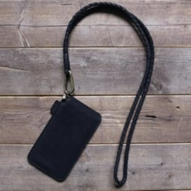 Miami XR keycord phone cover set L, black leather