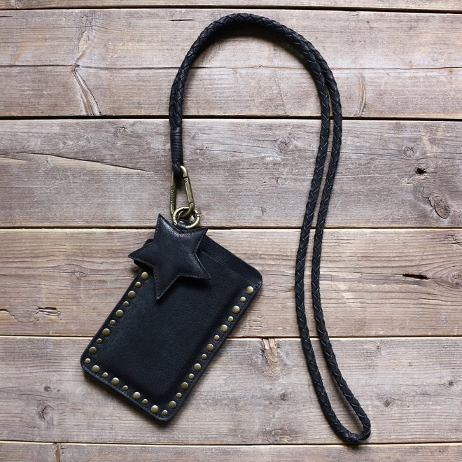 Miami XR Studs keycord phone cover set L, black leather