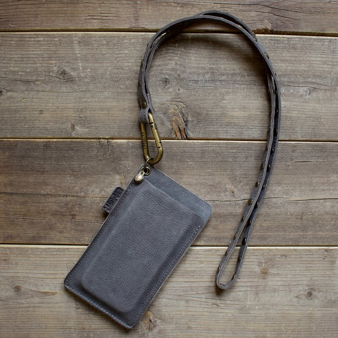 Miami keycord telefoonheosje set M, grijs