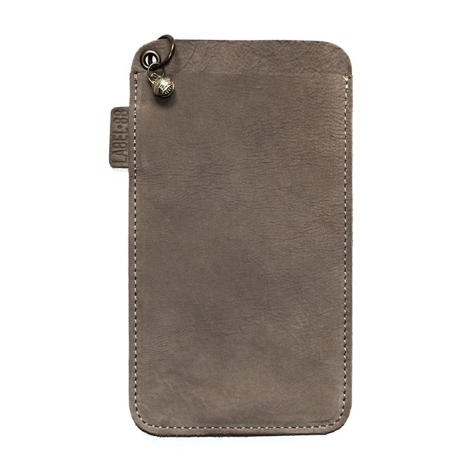 Miami XR phone cover, soft taupe nubuck leather