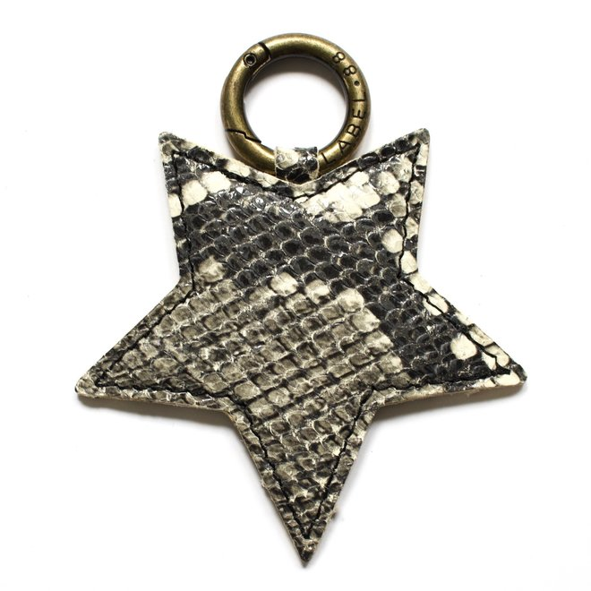 Star L keychain, snake print