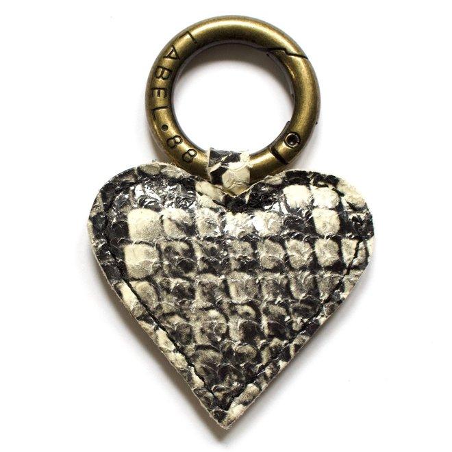 Heart S Keychain, snake print