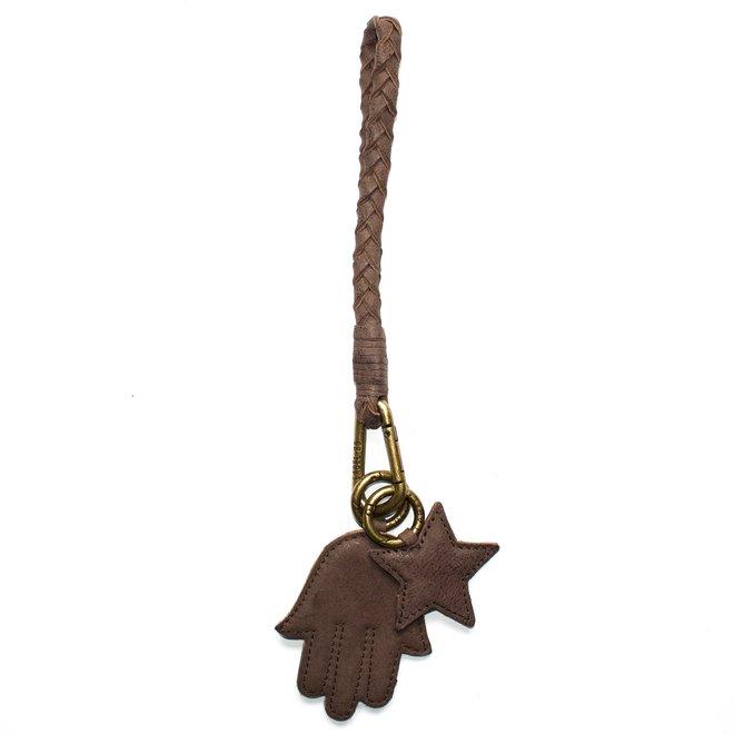 Keycord Flat S sleutelkoord, bruin leer