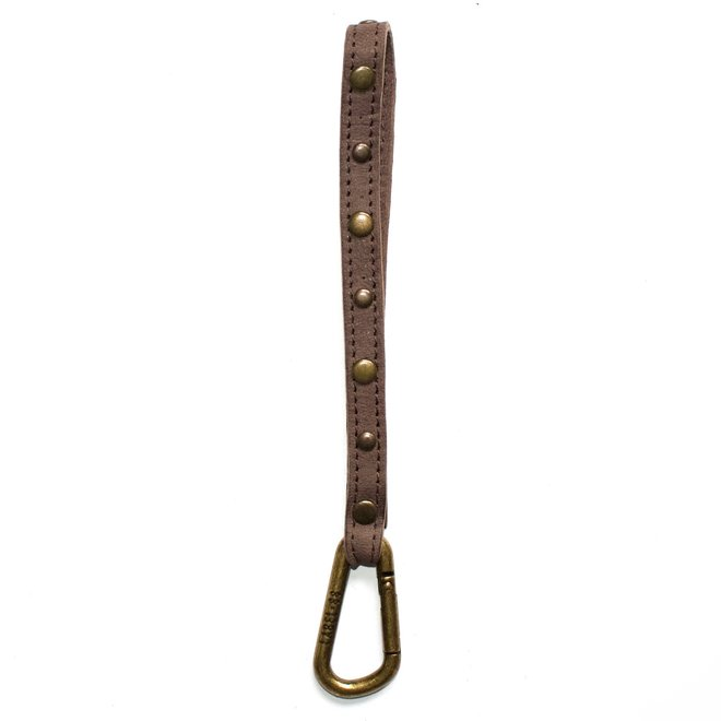 Keycord Studs S lanyard, brown leather