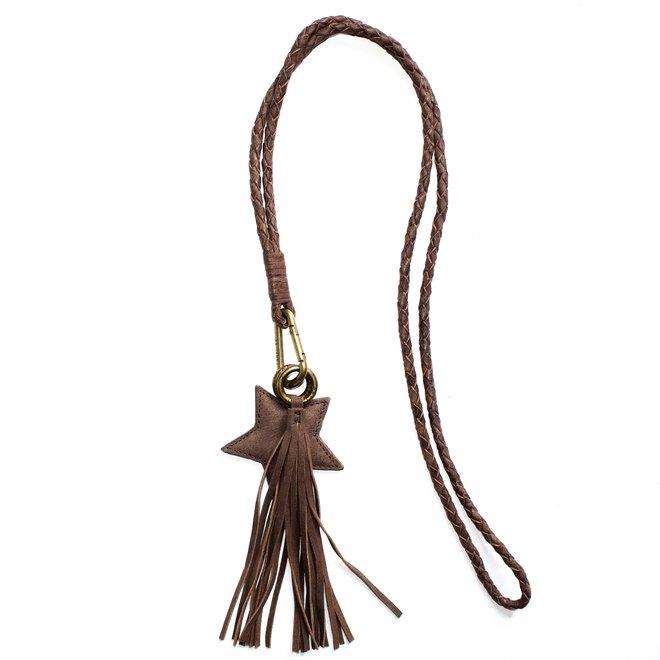 Keycord L sleutelkoord, bruin