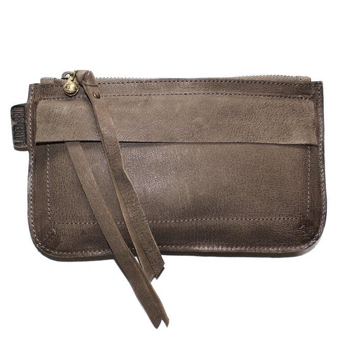 Beijing Deluxe keycordbag, taupe leather