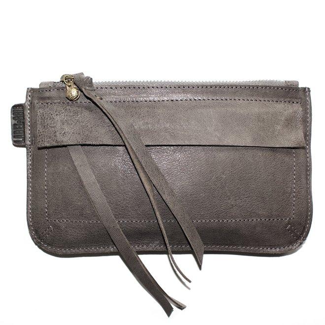 Beijing Deluxe keycordbag, grey leather
