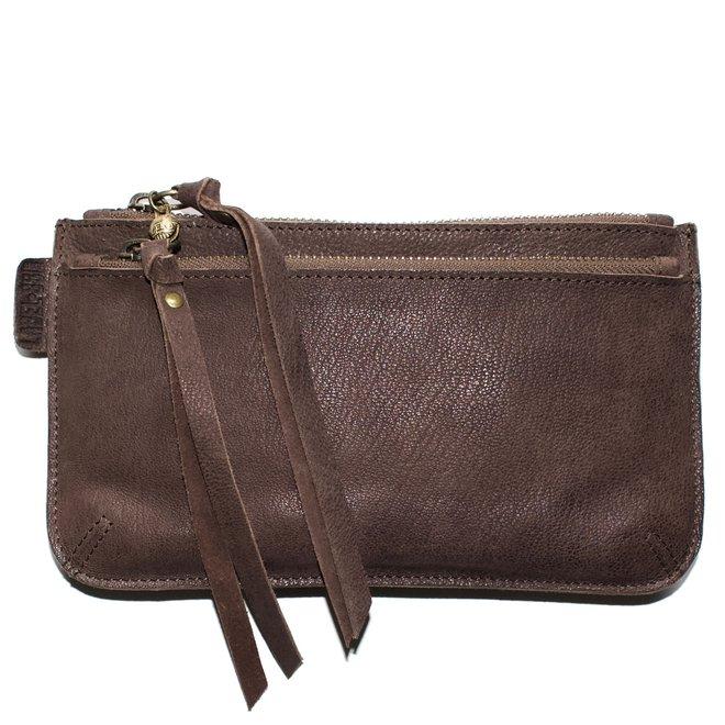 Beijing Zipper 2 keycordbag, brown leather