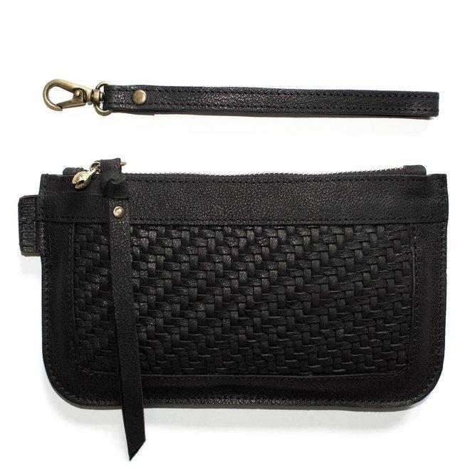 Beijing XL Mat keycordbag, black leather