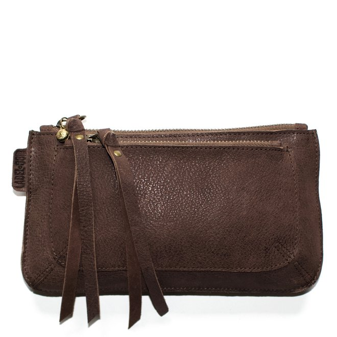 Beijing Pocket keycordbag, brown leather