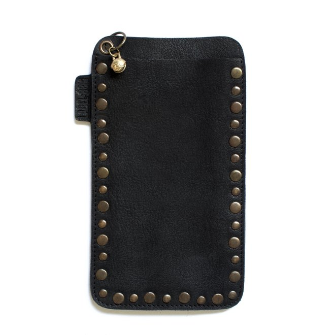Miami Studs phone cover, black leater