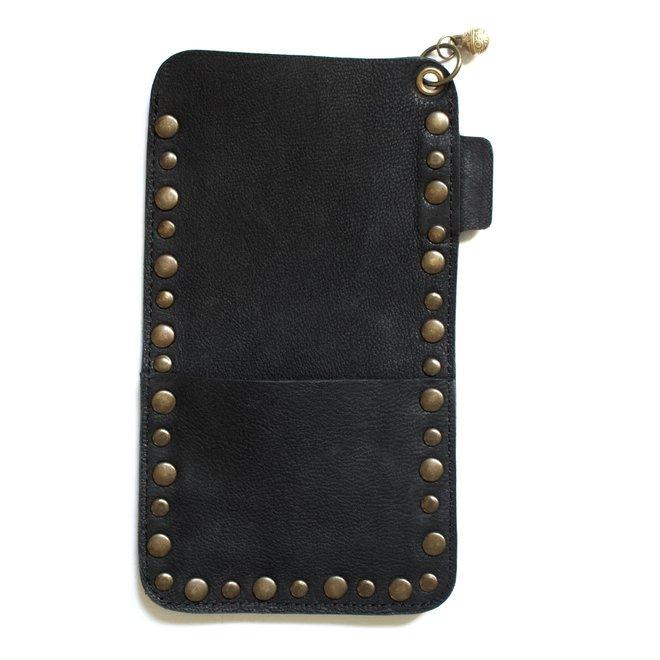 Miami Studs phone cover, black leather
