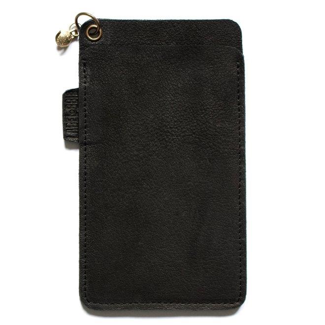 Miami phone cover, black leather